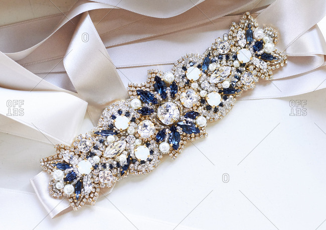 Close-up of a wedding accessory