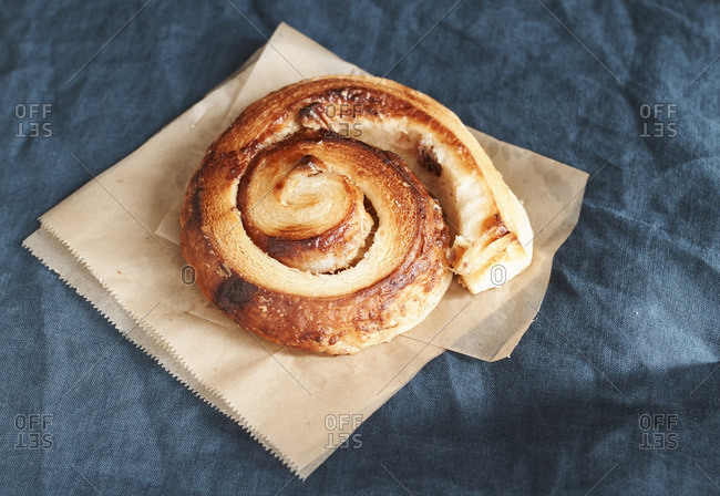 Close-up of a breakfast Danish