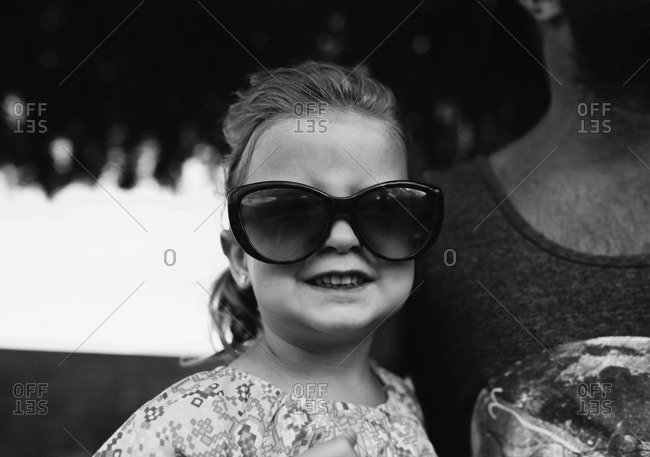 Portrait of a girl wearing sunglasses