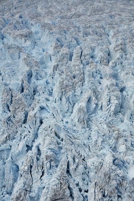 Patterns of jagged ice on the Heim Glacier, Greenland