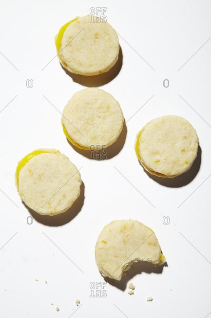 Meyer lemon shortbread rounds