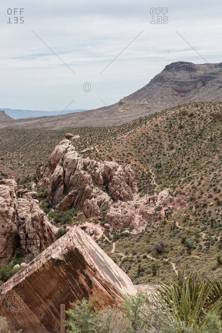 Sandstone rock formations in Red Rock Canyon National Conservation Area, Las Vegas