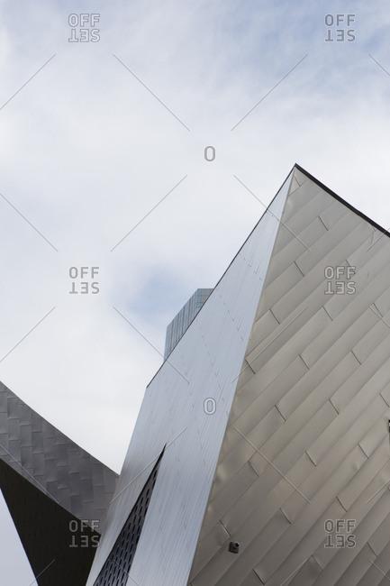 Las Vegas, USA - April 9, 2015: Low angle view of modern architecture in Las Vegas