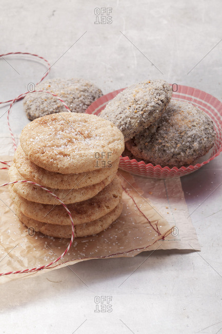 American cookies: Snicker doodles and Poppy seed snaps