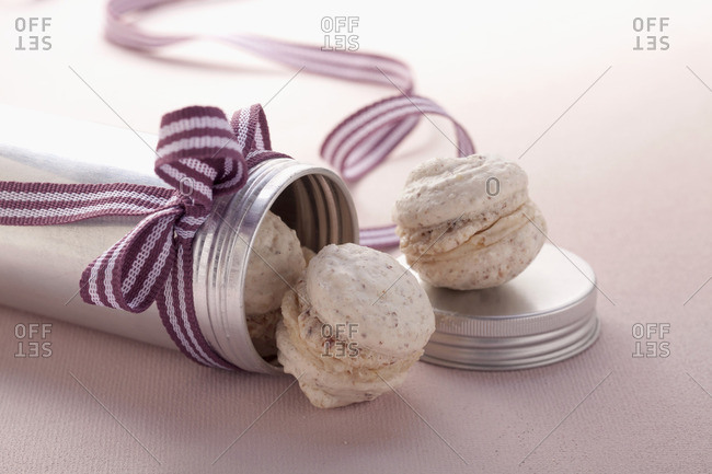 Macaroons filled with chestnut cream