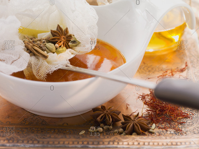Soup with oriental spices