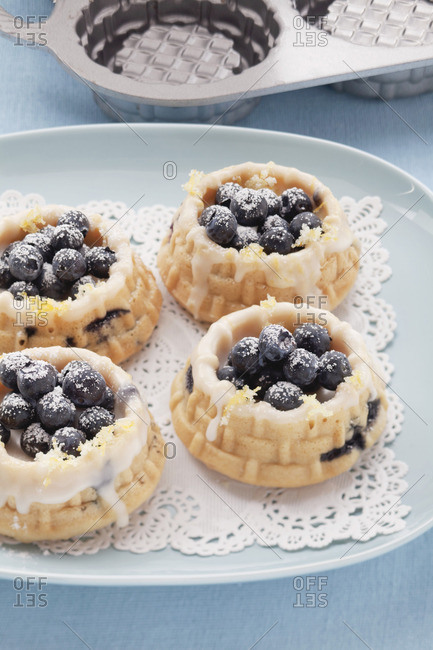 Mini blueberry tartlets - Offset Collection