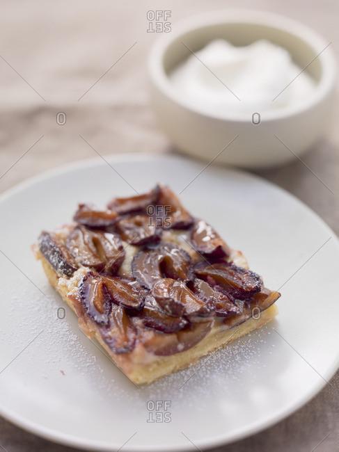Piece of plum cake