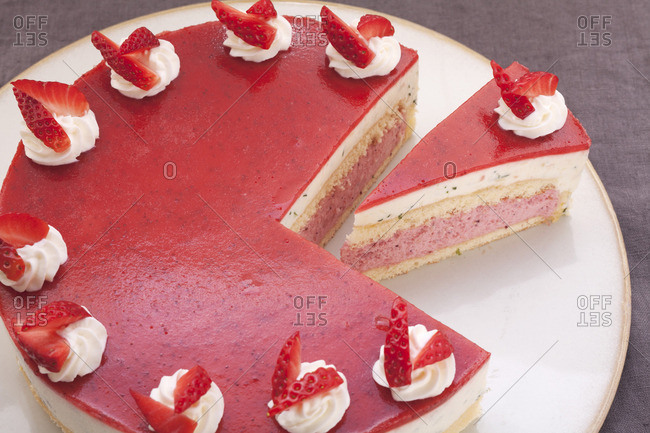 Strawberry gateau from the Offset Collection