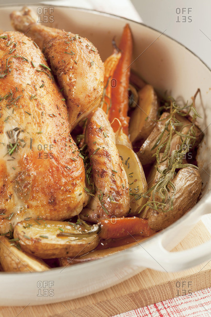 Rosemary chicken with roast vegetables