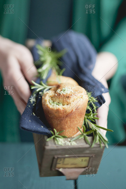 Herb popovers from the Offset Collection