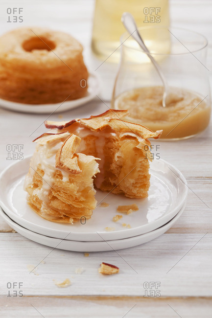 Doughnuts with apple pure - Offset