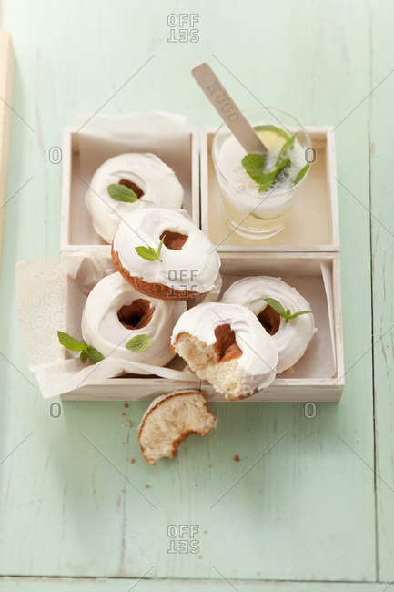 Hugo doughnuts with lemon balm