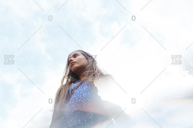A girl in dreamy sunlight
