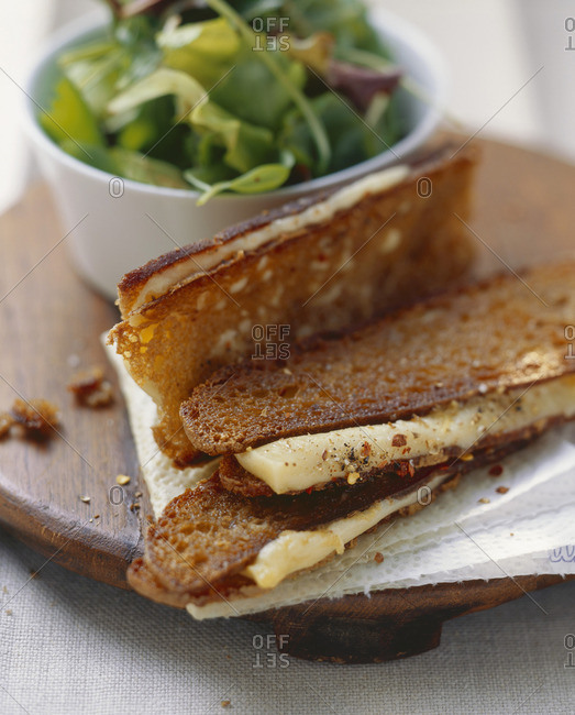 Fried cheese sandwiches made with  (Alpine) cheese