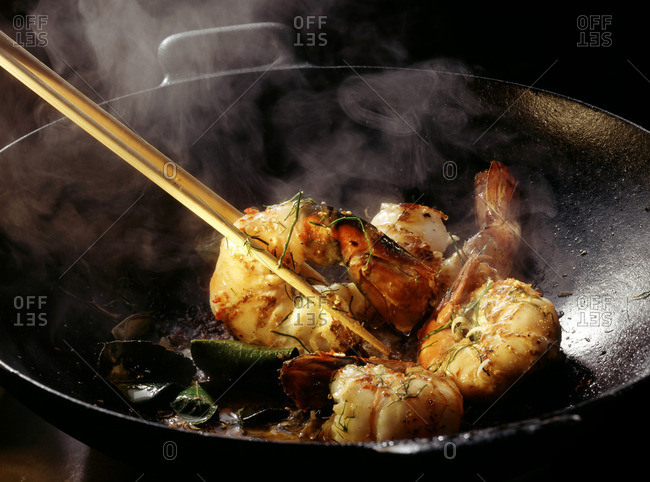 Red Norway Lobster Curry with Lemon Leaves