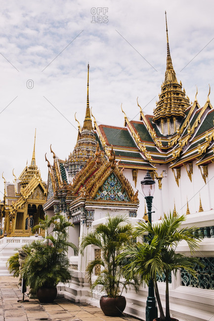Golden spires of the royal palace of the Thai monarchy