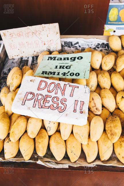 Fresh mangoes for sale