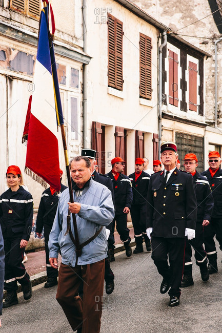 Loire Canal, France - July 14, 2014: Parade for La F�te Nationale of France on Bastille Day