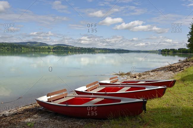 Germany, Bavaria, Swabia, East Allgaeu, Schwangau, Lake Forggensee near Fuessen