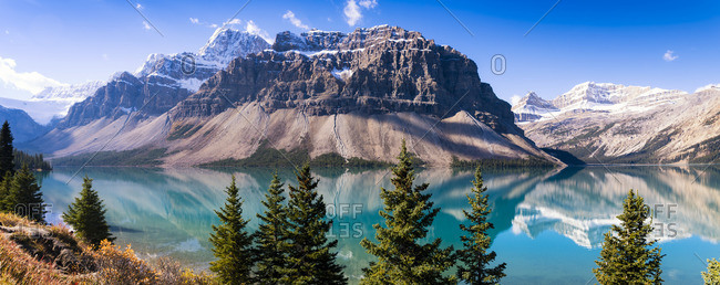 Canada, Alberta, Rocky Mountains, Banff National Park, Bow Lake