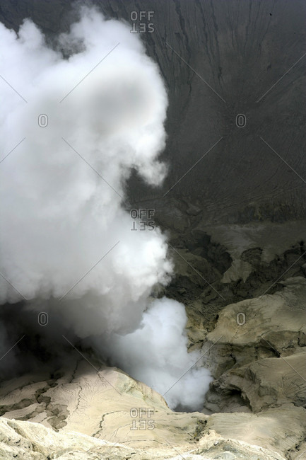 High Angle View Of Craters At Bromo Tengger Semeru National Park