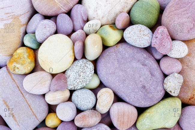 Stones On The Coast Of Marjal Del Moro, Valencia, Spain