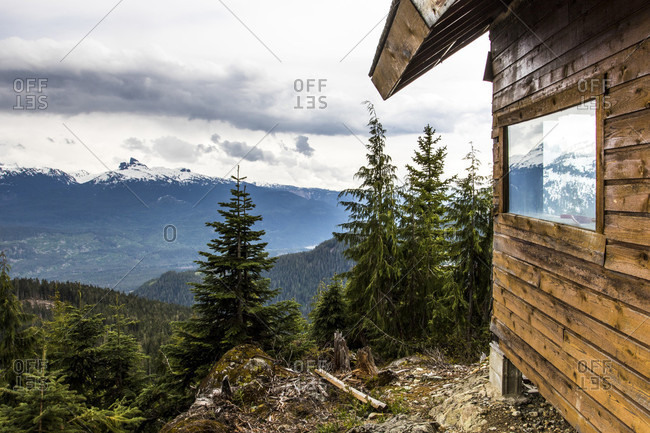View Of Blackcomb Snowmobile Cabin On Hillside