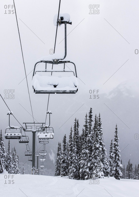 Un-opened Chairlift At Whistler Blackcomb