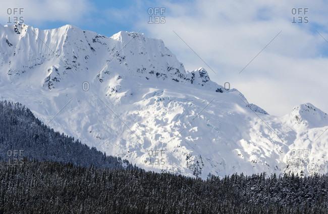 Scenic View Of Tantalus Mountain Range In Squamish, British Columbia