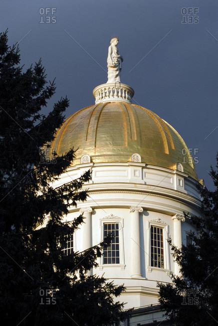 Vermont Statehouse In Montpelier, Vermont
