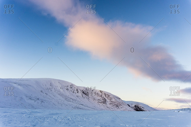 Dovrefjell National Park Plateau During Sunset In Norway