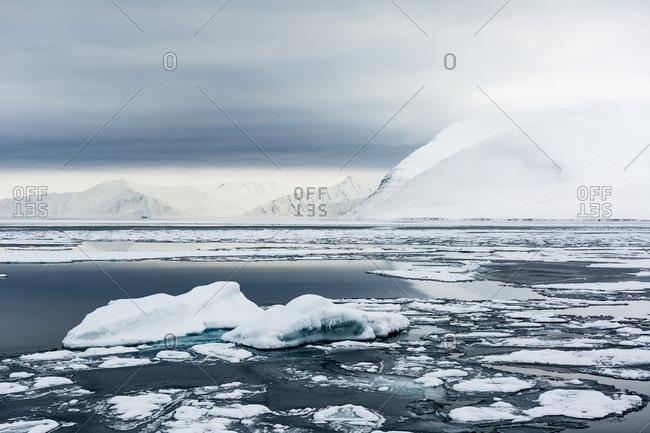 Winter Landscape Of The Arctic In Spitzbergen