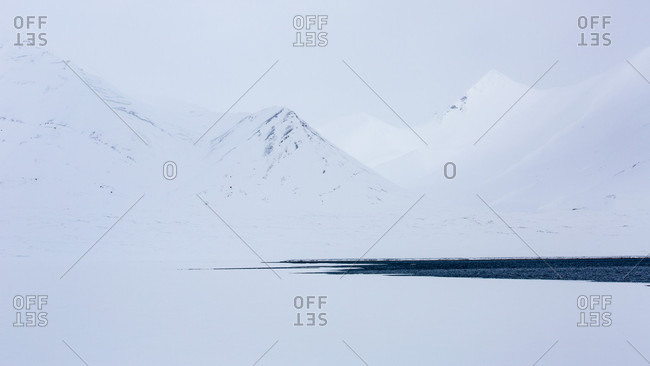Landscape Of The Arctic In The Spitzbergen, Norway