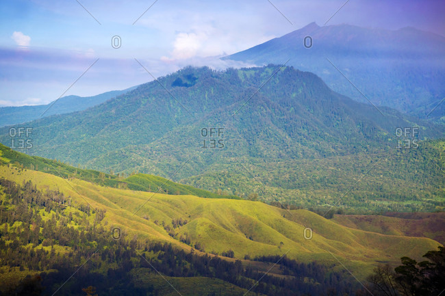 Scenic View Of Mountain Landscape In Java, Indonesia