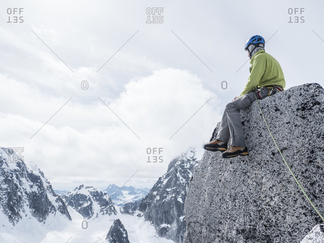 Man Enjoying The View From Top Of Middle Troll In Little Switzerland