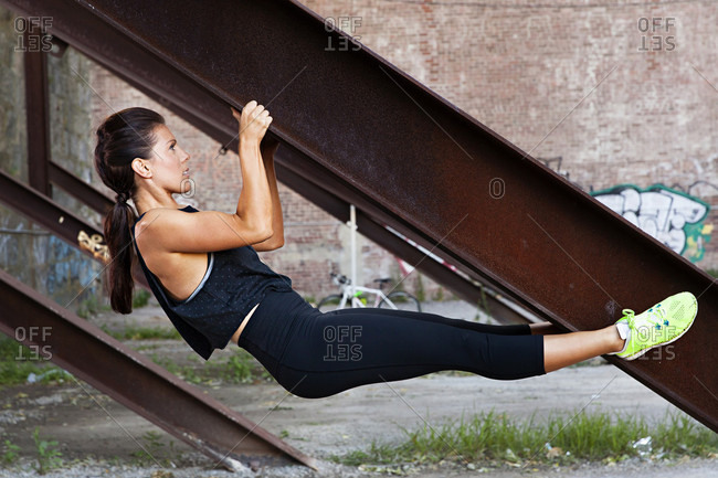 Woman Doing Stretching Outside In The City