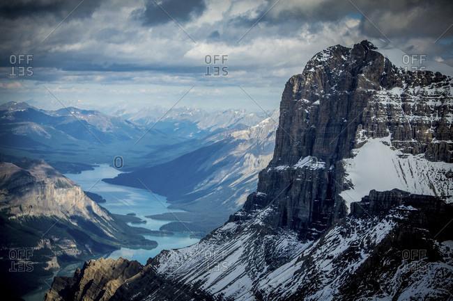 Scenic View Of Maligne Lake In Canada