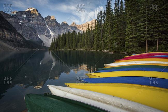 View Of Moraine Lake In Alberta, Canada