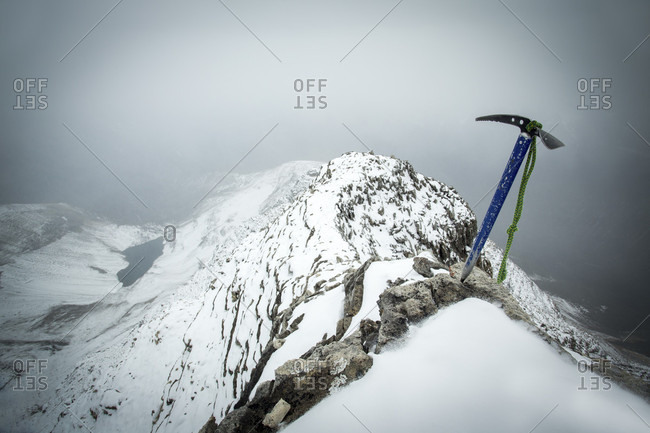 Axe On Top Of Mount Carnarvon During Snow