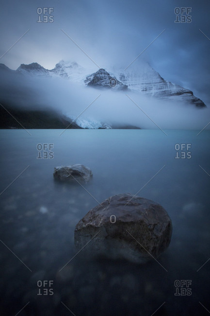 Boulders In A Glacial Lake, Mount Robson Provincial Park, Canada