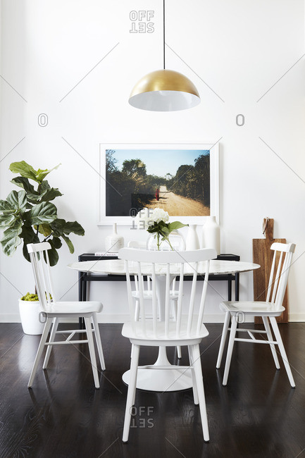 July 29, 2016: Dining area in bright home