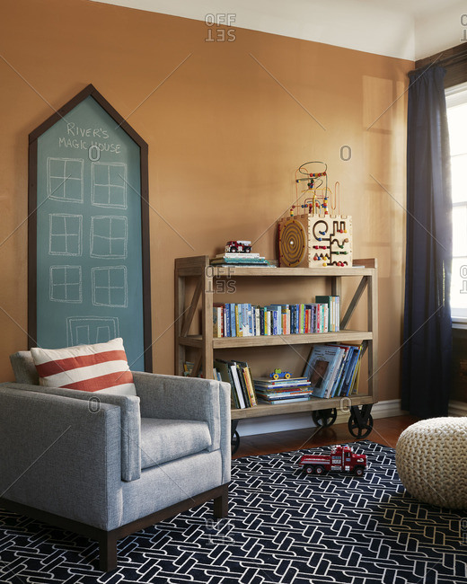 August 15, 2016: A living room in modern home
