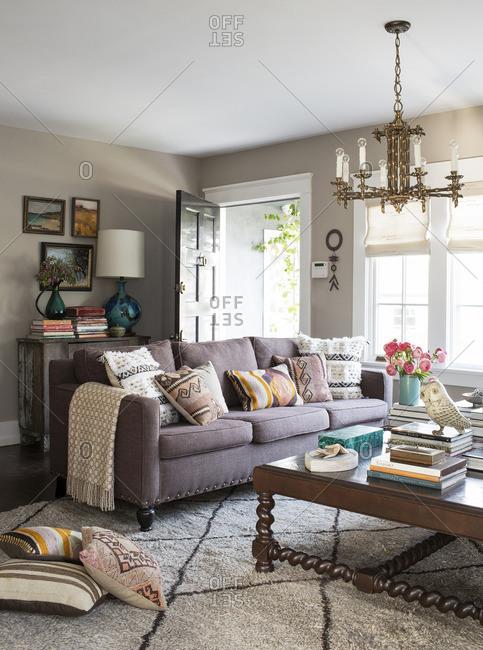 April 24, 2015: A cozy living room area