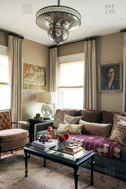 April 24, 2015: Living room with mix of styles