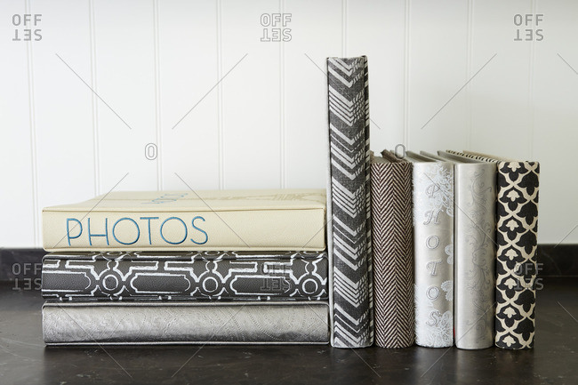 Photo albums on table - Offset