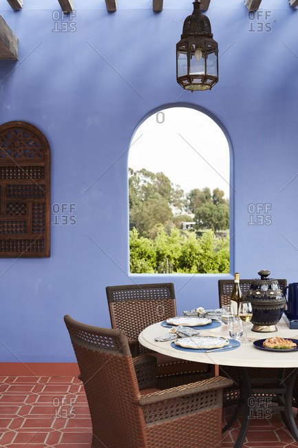 February 23, 2016: Table in a colonial style building