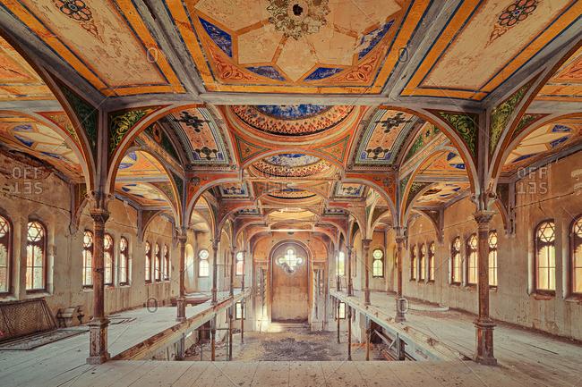7/19/14: Interior of an abandoned synagogue