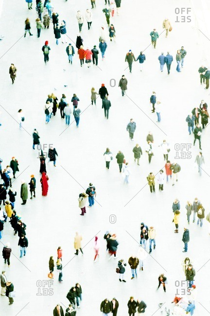 Crowd in St Mark's Square, Venice