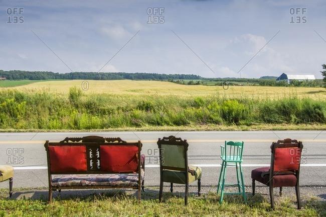Vantage furniture by rural road